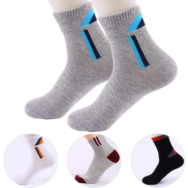 Men Outdoor Sport Runninhg Sock Soft Cotton Soccer Sports Hiking Camping Cycling Running Male Socks