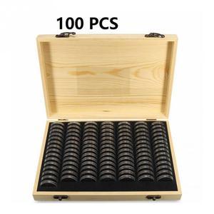 Регулируемый антиоксидантный коллекционный чехол, коробка для хранения монет, домашний простой памятный контейнер, универсальный деревян...