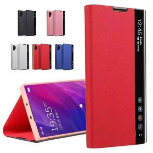 Espelho flip caso do telefone para huawei p30 p20 pro p smart plus capa led vista caso móvel capa para huawei mate20 30 pro y9 y7 2019