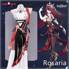 Pre-sale Uwowo Genshin Impact Rosaria Cosplay Costume Game Suit Dress Uniform Anime Halloween Costumes For Women Outfit