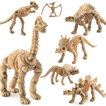Mini Size Plastic Dinosaur Fossil Skeleton Simulation Model Set Lifelike Figures Dino Collection Educational Toys For Children