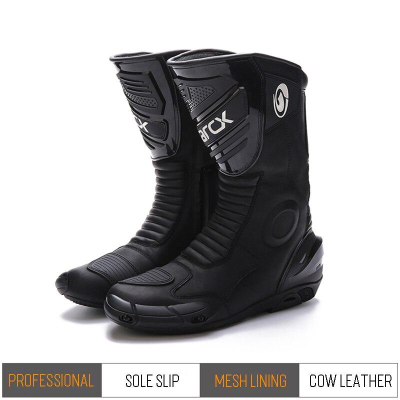 ARCX moto réfléchissant imperméable bottes en cuir Motocross course bottes protecteur vitesse moto vêtements de vélo chaussures réfléchissantes