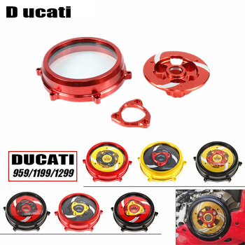For Ducati 959 1199 1299 Panigale R S Motorcycle CNC Engine Clutch Cover Spring Retainer Clear Pressure Plate