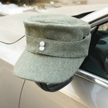 CAP WWII M43 Reproduction Ww2 German WH Military-Store OFFICER PANZER WOOL FIELD Gray-Green-Wool