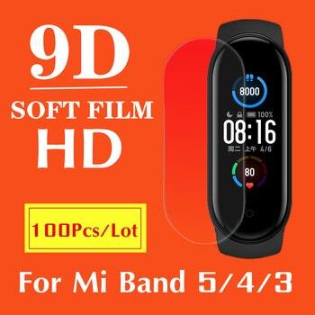 100/Pack,Screen Protectors For XiaoMi Mi Band 5 Smart Bracelet Protective Film For Mi Band 4 Smart bracelet accessories