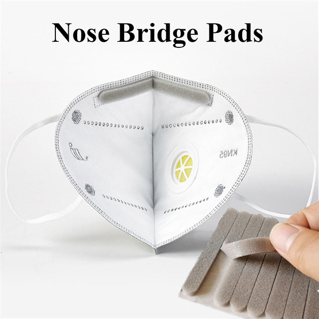 100Pcs Microfiber Foam Protection Strip Anti-Fog Nose Bridge Pads Cushion Mouth Mask Diy Making Fix Protection Mask Materials 1