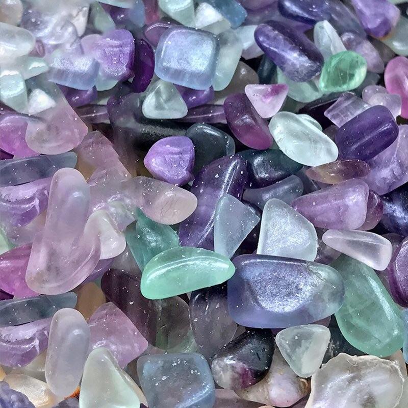 Natural Stone Rock Gravel Crystal Tumble Stone Minerals Gravel Specimen Stone Energy Decorative Stone Fish Cylinder Stone