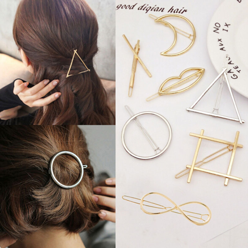 Fashion Girls Star Heart Hair Clip Delicate Hair Pin Hair Decorations Jewelry Accessories Women Girls Hairpins Hair Accessories