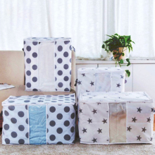Large-capacity non-woven printed quilt finishing storage bag