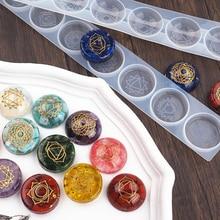 2pcs Silicone 7 Chakras UV Resin Mold DIY Handcraft Pendant Jewelry Accessories