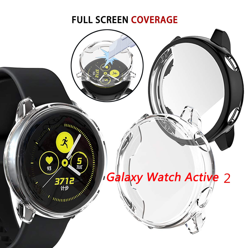 TPU Protective Case For Samsung Galaxy Watch Active 2 40mm Soft Silicone Protection Cover For Galaxy Watch Active2 44mm