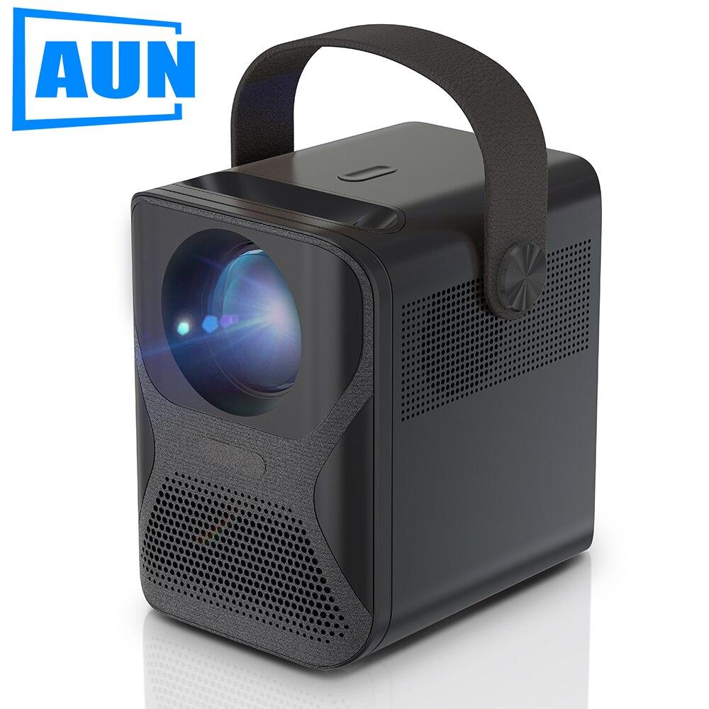 AUN Full HD проектор ET30 родной 1920x1080P Разрешение 3300 люмен 3D Портативный дома Кино 4K видео через HDMI-Совместимость
