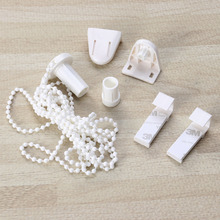 Connector-Set Blind-Beaded Zebra Chain-Cord Roller-Shade Clutch 17mm White