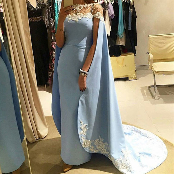 Sky Blue Mother Of The Bride Dresses Sheath Appliques Lace Beaded Plus Size Long Groom Mother Dresses For Weddings