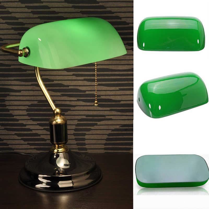 Green Gl Desk Banker Lamp Shade