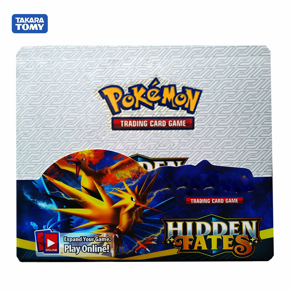 324pcs Pokemon Cards Sun & Moon Hidden Fates Booster Box Collectible Trading Card Game Collection Card Toys For Childrens