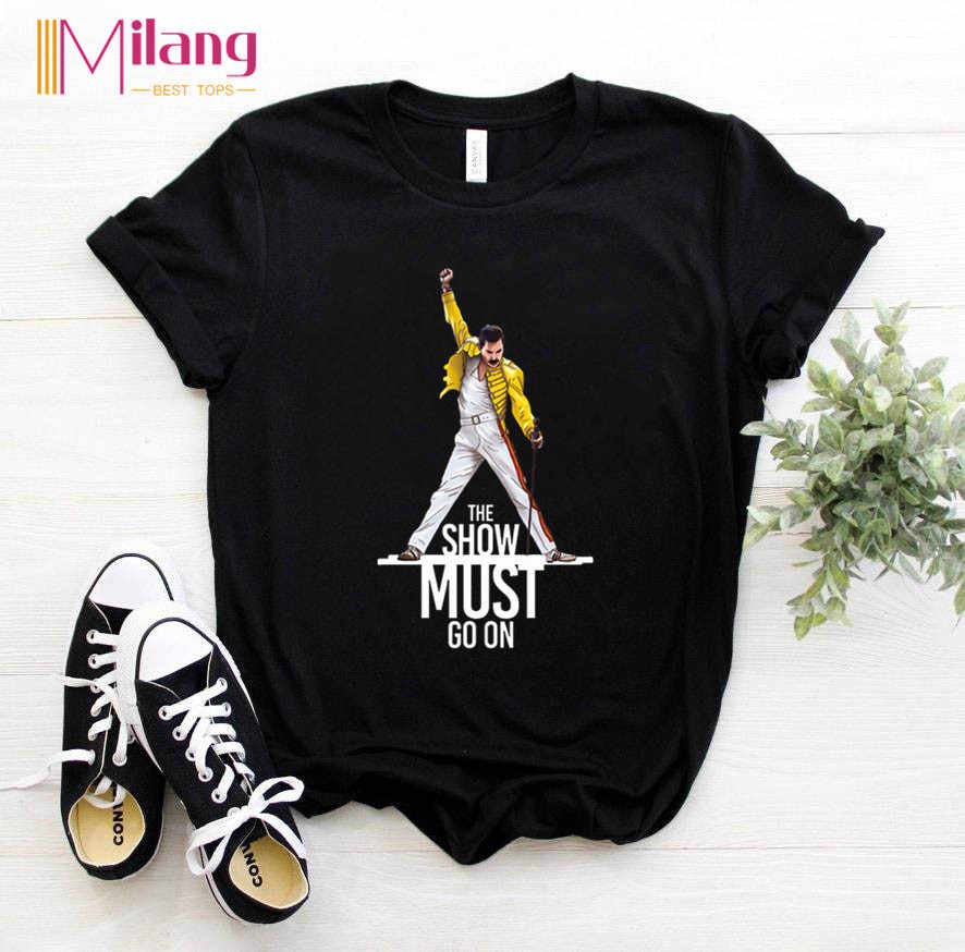 Women Freddie Mercury The Queen Band Black T-shirts Female Short Sleeve Tees 2020 Summer Brand Rock Clothing Girl Tops