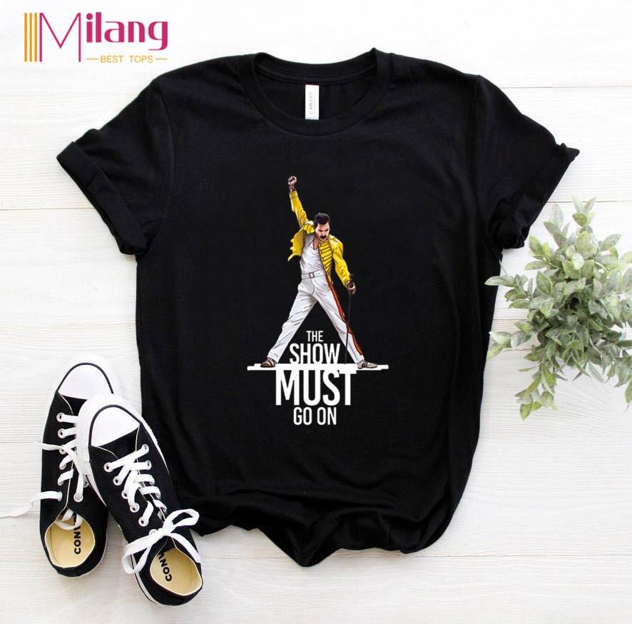 Женские футболки Freddie Mercury с Королевской лентой, черные женские футболки с коротким рукавом, 2020, летняя брендовая одежда в стиле рок, топы для...