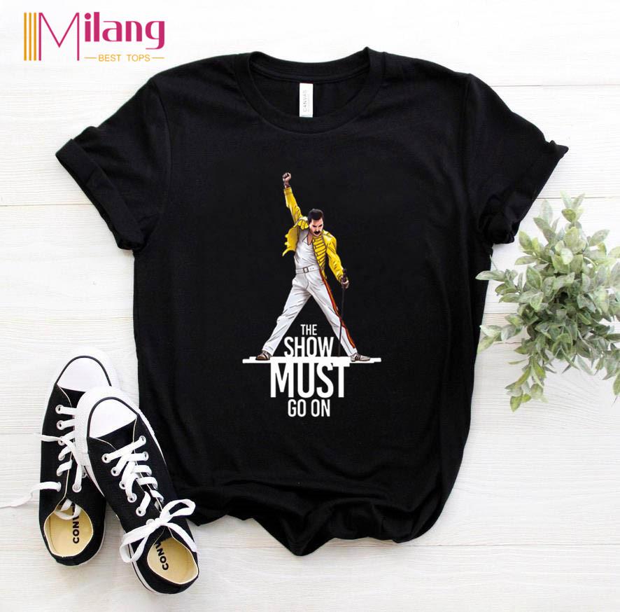 Women Freddie Mercury The Queen Band Black T shirts Female Short Sleeve Tees 2020 Summer Brand Rock Clothing Girl Tops