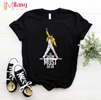 Women Freddie Mercury The Queen Band Black T-shirts Female Short Sleeve Tees 2020 Summer Brand Rock Clothing Girl Tops women agust d black t shirts female short sleeve tees 2020 summer brand vogue choose clothing girl tops