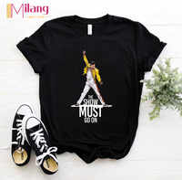 Women Freddie Mercury The Queen Band Black T-shirts Female Short Sleeve Tees 2020 Summer Brand Rock Clothing Girl Tops