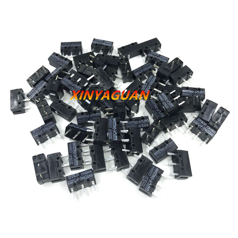 100pcs/lot OMRON micro switch D2FC-F-7N(20M) suitable for the 10M 50M button of Steelseries Logitech G403 G603 G703 mouse