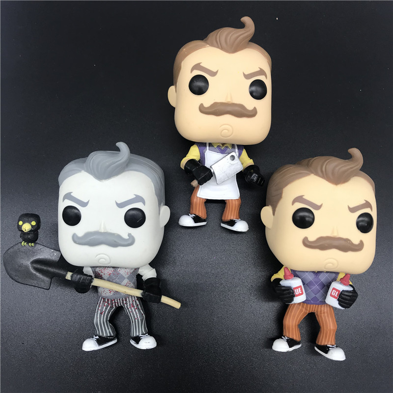 Exclusive Original Pops Model Toy Games Hello Neighbor With Glue/Apron & Cleaver/Walmart Vinyl Figure Action Gifts NO BOX