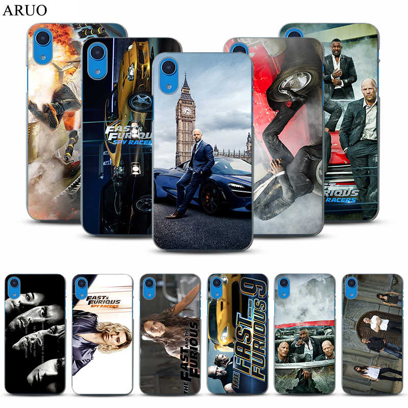 Fast Furious Hobbs Shaw Telefoon case voor iphone 11 11Pro XR X XS Max 8plus Mode Movie Cars clear Hard PC gevallen voor 6 7 plus 5 s