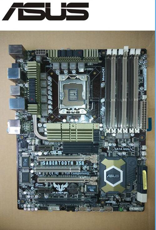 Оригинальная материнская плата ASUS SaberTooth X58 LGA 1366 DDR3 Core i7 Extreme/Core i7 24 ГБ, используемая настольная материнская плата motherboard asus sabertooth sabertooth x58asus sabertooth x58   АлиЭкспресс