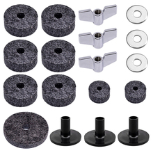 Cymbal Felts Hi-Hat Clutch Felt Hi Hat Cup Felt Cymbal Sleeves With Base Wing Nuts Cymbal Washer For Cymbal Stacker High Quality arborea cymbal gravity 14hi hat cymbal for drums