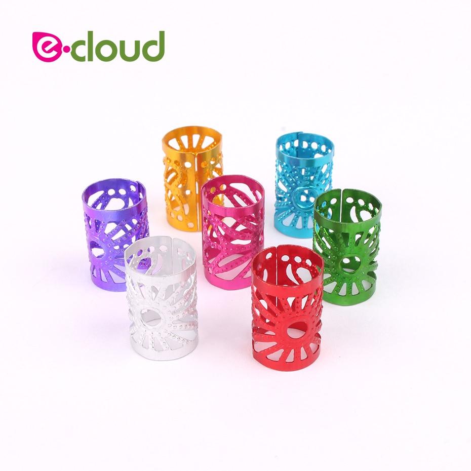 170 peças dreadlocks grânulos multicolorido alumínio dreadlocks