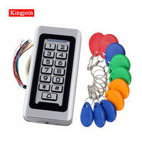 KINGJOIN Rfid Door Access Control System Waterproof Metal Keypad 125KHz Proximity Card Standalone Access Control With 2000 Users