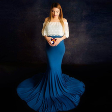 New Cape Matched Dresses Maternity Dresses for Baby Shower Pregnant Women Long Maxi Gown Pregnancy Dress for Photo Shoot