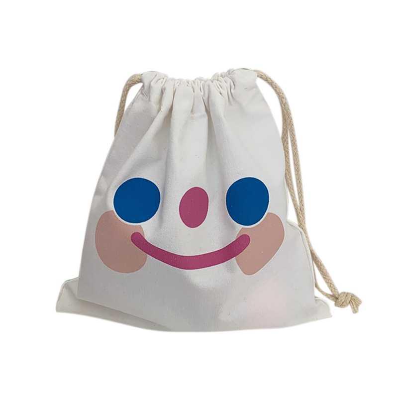 Niedlich Langlebig Wolke Lächeln Nette Muster Tasche Handtasche Mädchen Hochleistungsaluminiumlagertragetasche Welpen Haufen Tasche Kordelzug