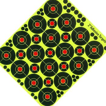 Materiały strzeleckie samoprzylepne cele strzeleckie reaktywne rozpryski papierowe naklejki docelowe do treningu myśliwskiego pod wysokim ciśnieniem tanie i dobre opinie Glow Florescent Paper Target Other Shooting Reactive Paper Training Shoot Accessories