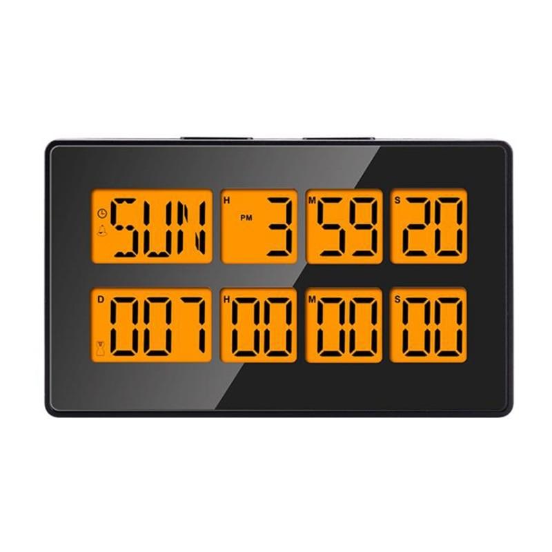 Multifunction Digital Kitchen Timer Large Display Digital Timer Cooking Count Up Alarm Clock for Reading Book