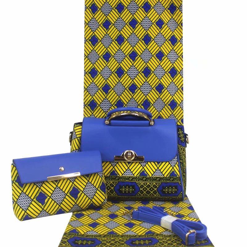 ใหม่แฟชั่นขี้ผึ้งแอฟริกันผ้ากระเป๋าคู่ชุดขายร้อนอังการาออกแบบ dashiki พิมพ์ที่ดีที่สุดราคา-ใน ผ้า จาก บ้านและสวน บน   1