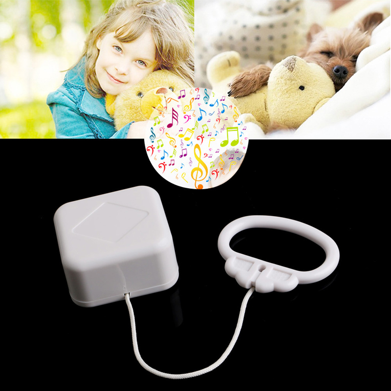 Pull String Cord Music Box White Baby Bed Bell Kids Toy Random Songs Q6PD