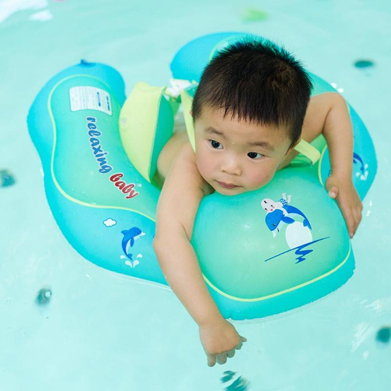 1Pc Baby Swimming Ring Floating Kid Inflatable Floats For Bathtub Pool Toy Portable Waist Swim Trainer Infant Swimming Props