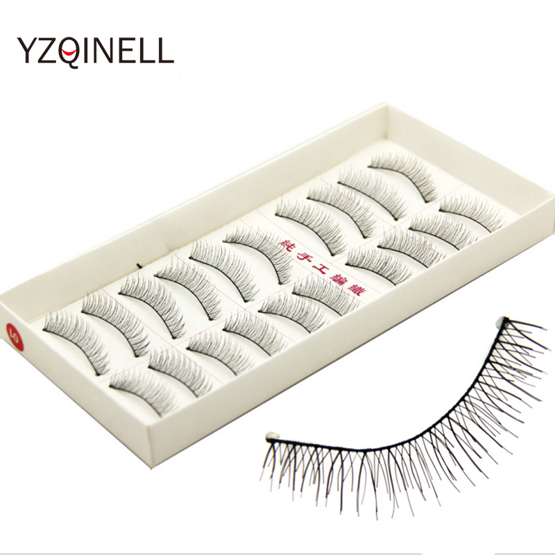 10 Pairs Natural Eyelashes Handmade False Eyelashes Wispy Eye Lash Eyelash Extension Cross Fake Eyelashes Free Shipping