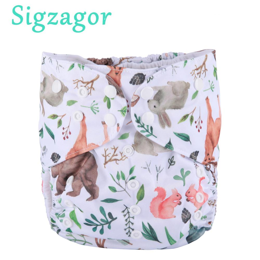 [Sigzagor] от 2 до для детей 4, 5, 6, 7 лет большой ткань пеленки подгузник с карманом один размер Многоразовые моющиеся из микрофлиса внутренний для ...