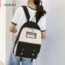 купить Female Harajuku Vintage Brief Backpack Cute Women School Bags for Teenager Girls Waterproof Nylon Backpack Ladies Student Bag 48 дешево