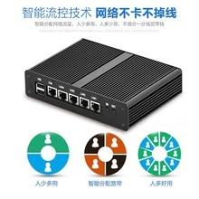 Алюминиевый бесвентиляторный мягкий маршрутизатор Intel Celeron J1900, четырехъядерный мини-ПК с DDR3L mSATA SSD VGA 4 гигабитной LAN для pfSense OPNsense