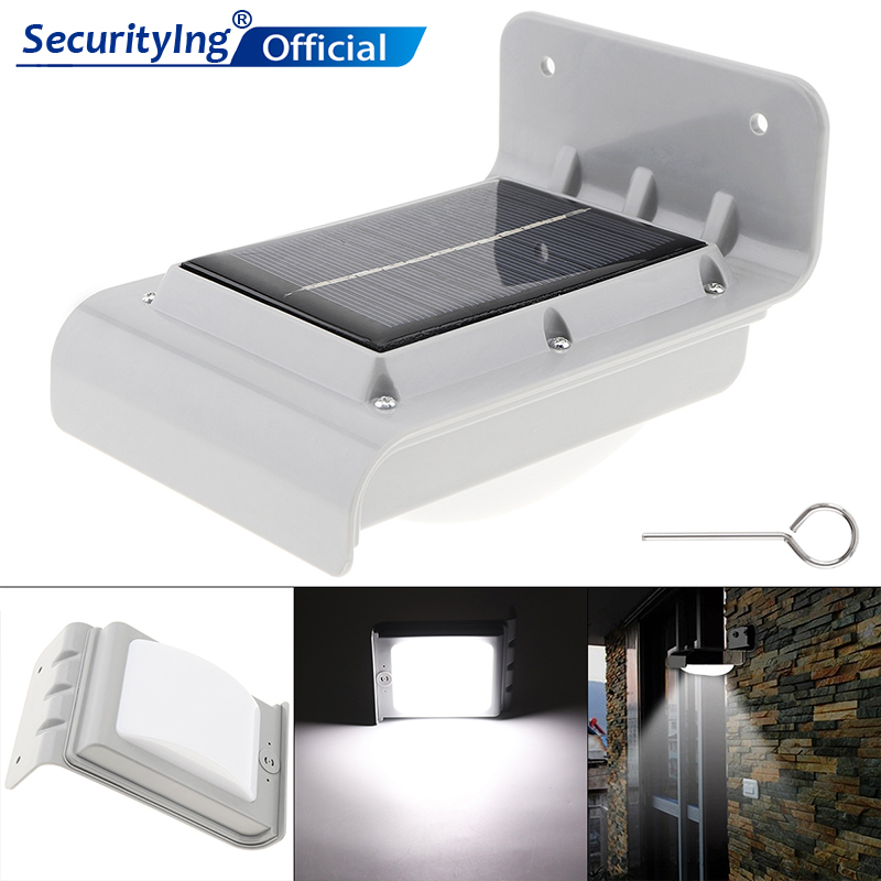 16 LED 800mAh Solar Power Light Induction Garden Security Lamp Outdoor Waterproof Light With Photosensitive Control