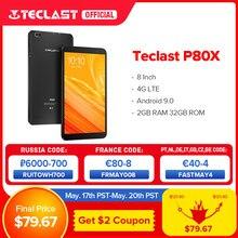 Teclast – Tablette PC de 8 pouces P80X, phablette avec Android 9.0, 4G, SC9863A Octa Core, 1280*800 IPS, 2 Go de RAM, 32 Go de ROM, double camera, GPS