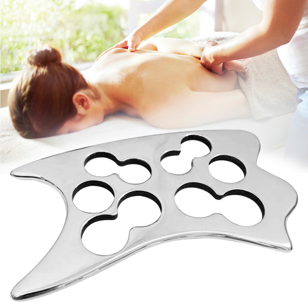 Handed Stainless Steel Scraping Board Body Scrapper Plate For Release Pain Relief Guasha Tools Body Massage Tools