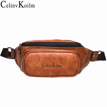 Celinv Koilm Waist Pack Bag Fanny Pack Men Leather Hip Bum Shoulder Bag for Outdoors Workout Traveling Running Hiking Cycling