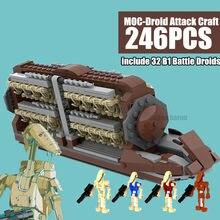 Nova estrela filme série espacial guerras batalha transporte batalha droid pelotão ataque artesanato blocos de construção tijolos crianças brinquedos