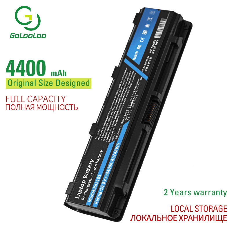 Golooloo 6 cells laptop <font><b>battery</b></font> PABAS271 PABAS27 for <font><b>Toshiba</b></font> <font><b>Satellite</b></font> C50T <font><b>C55</b></font> C55D C55DT C55T C70 C70-A Pro C70 Pro C70-A image