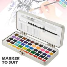 50/72 farbe Solide Aquarell Malen Set Tragbare Box Reise Wasser Farbe Pigment für Anfänger Enthusiasten Professionelle Zeichnung